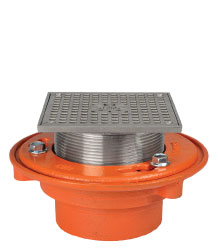 "FLOOR DRAIN - TYPE ""S-SS"" SQUARE ADJUSTABLE STRAINER"