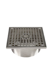 SQUARE ADJUSTABLE STRAINER - STAINLESS STEEL